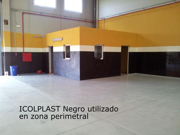 Icopplast negro utilizado en zona perimetral