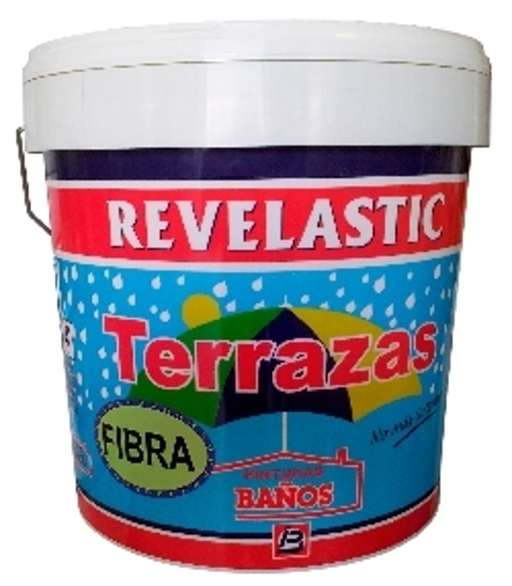 REVELASTIC TERRAZAS FIBRA DE VIDRIO-ROJO 15L