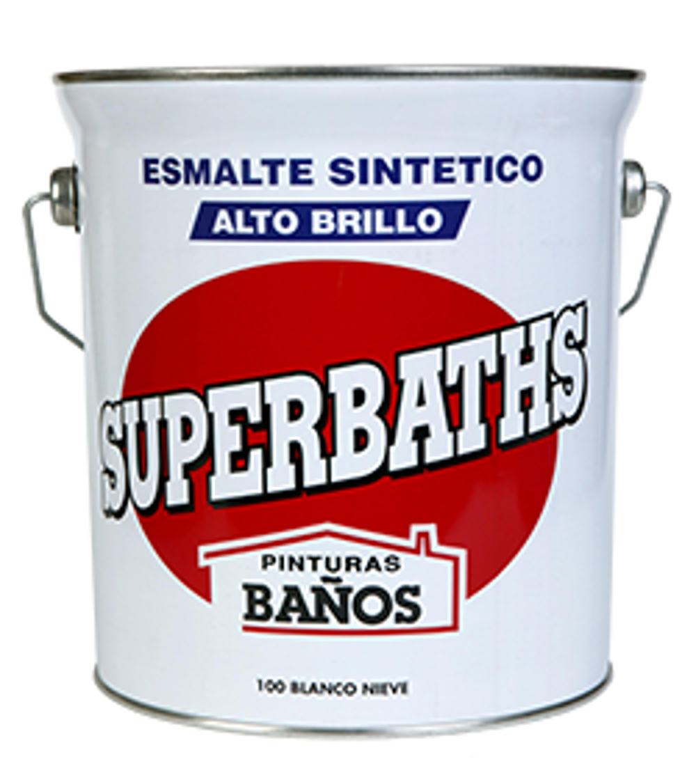 SUPERBATHS ESMALTE SINTETICO ALTO BRILLO