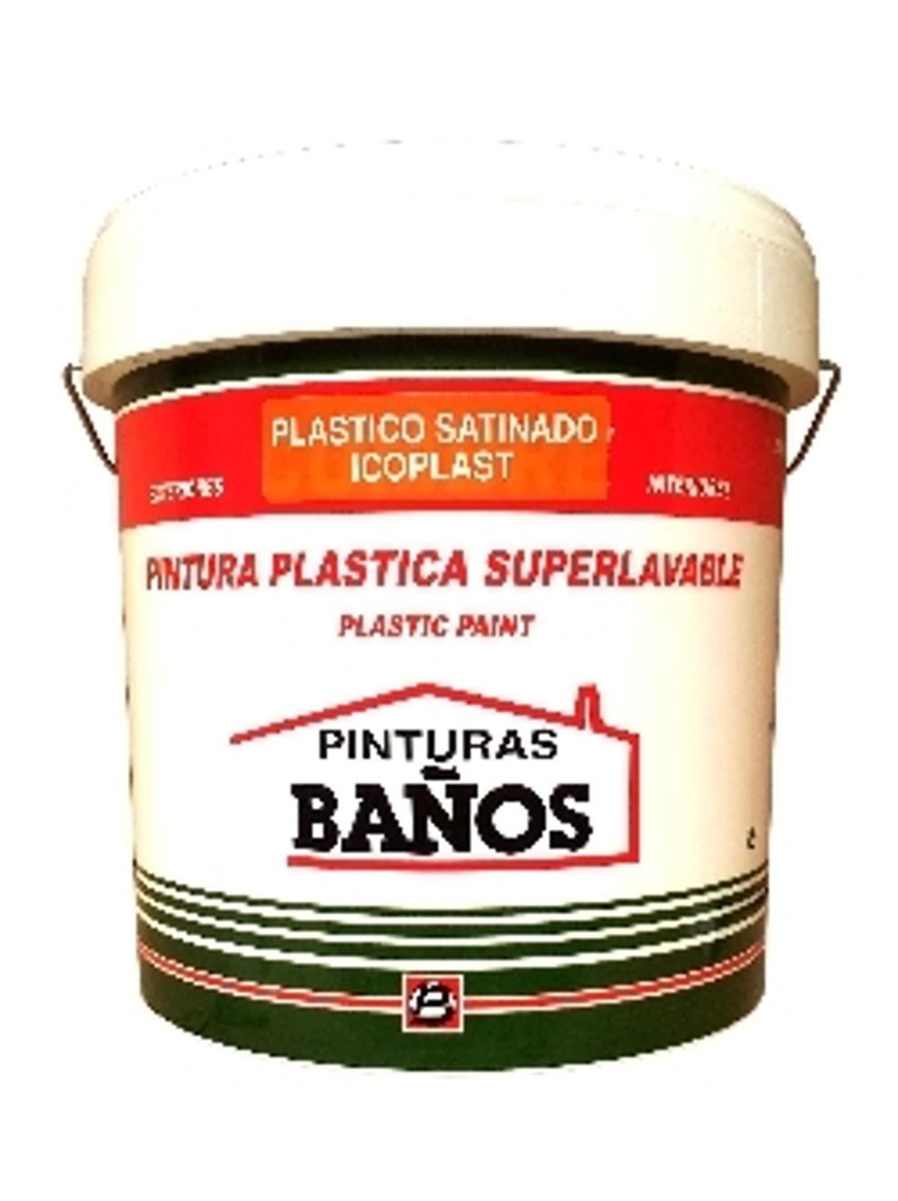 PINTURA PLASTICA SATINADA ICOPLAST COLORES-BERMELLON 4L